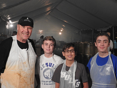 Our Kiwanis Advisor, Marty Koscso with some of our Key Club Members in the BBQ tent