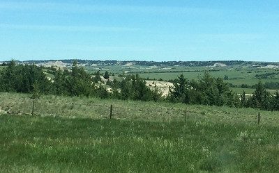 South Dakota Landscape from our car (photo by Chris)