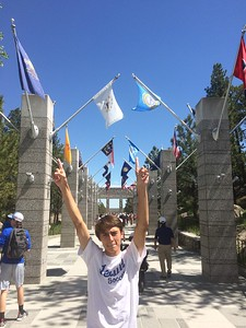 Ben with all the state flags