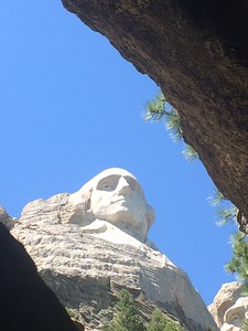George Washington up through a crevice in a cave (Photo by Chris)