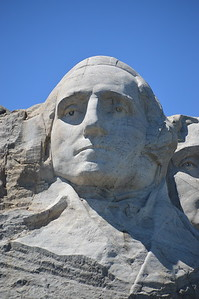 The first of 4 faces on Mount Rushmore - George Washington