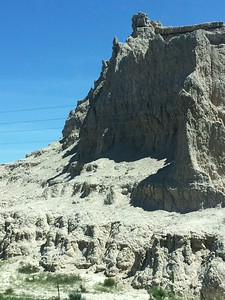 interesting land formations in the scenery as we drive the 4 hours to St. Francis (photo by Chris)
