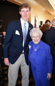 KC President Kyle Erickson and Holocaust Survivor Carolyn Kaplan
