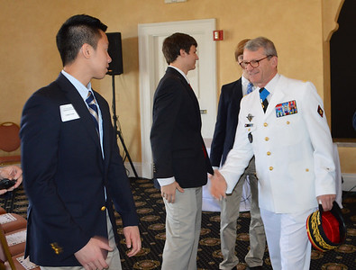 BG Thierry Ducret French Foreign Military Officer introduces himself to Tommy Pham