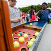 Frederick August plays a roller ball game during the Johnny Appleseed Lawn Party in Leominster on Saturday afternoon. Funds raised during the event go towards student activities throughout the year. SENTINEL & ENTERPRISE / Ashley Green