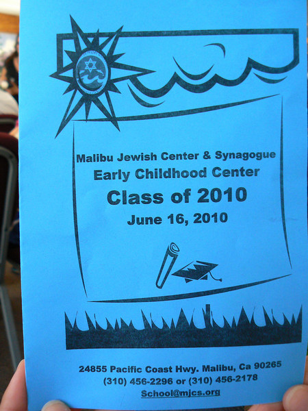 Jonathan Zucker's Pre-School Graduation