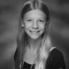 Julia's 6th grade photo - black & white