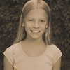 Julia's 5th grade photo - sepia