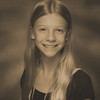 Julia's 6th grade photo - sepia
