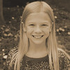 Julia's 4th grade photo - sepia