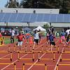 Corinne in the hurdles