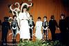 Britt Claes tijdens een optreden 'Orpheus & Eurydice' in 1985