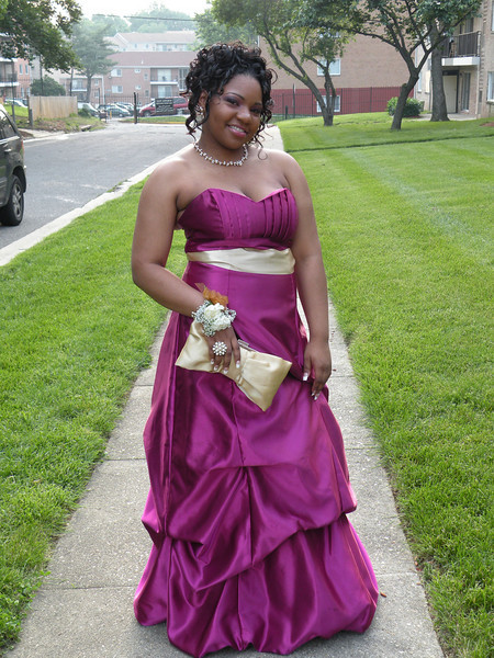 Miss Karen on her prom night.