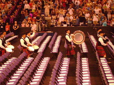 Bagpipes.
