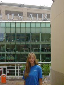 Kelly outside of the U.S. Airways Center in Phoenix, AZ.