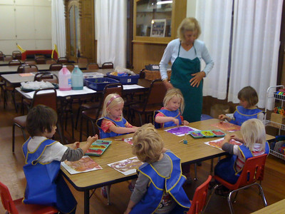 Arts class at KinderHaus