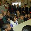Kindergarten class paying attention.