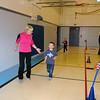 Mrs. H (PE teacher) and Chandler running the Wolf Run!