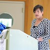 Leominster Center for Excellence Principal Carrie Duff addresses the graduates at the schools first graduation on Thursday afternoon. SENTINEL & ENTERPRISE/JOHN LOVE