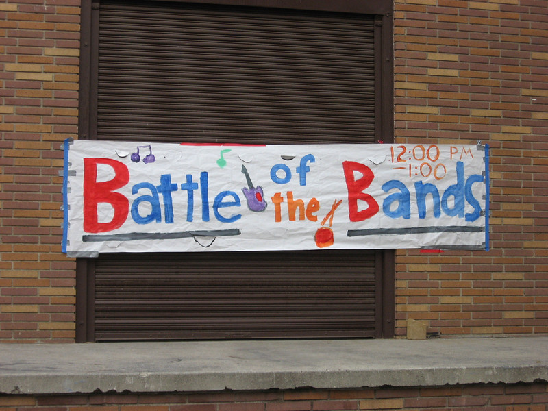 One of competitions was a battle of the bands.