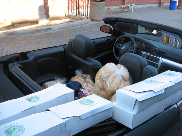 Sometimes a convertible comes in handy for schlepping Oktoberfest goodies.