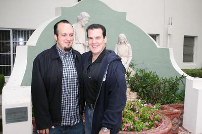 Sr. Pablo Pedroarias and Sr. Rick Pedroarias keep it in the family at faculty retreat in Malibu in April 2007.
