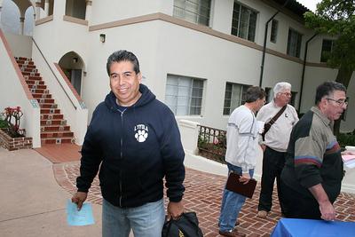 Sr. Concepcion Contreras arrives for the Faculty Retreat in Malibu in April 2007.
