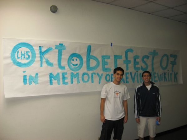 Srs Jaimie Guerrero and Andrew Schurr helped with banners.