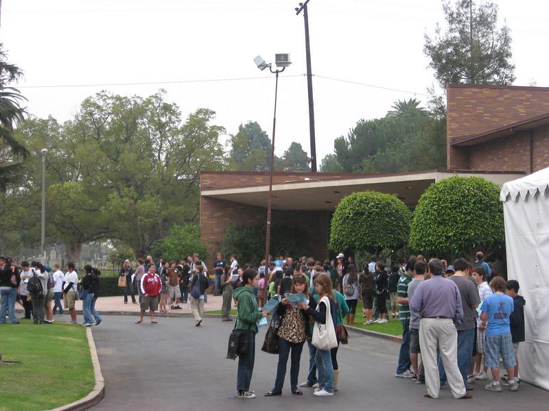 October 27,2007---Registration for SCRAM at LHS