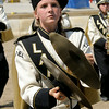 Don Knight | The Herald Bulletin<br /> Kelsey Phillips plays the cymbals during State Fair Band Day competition on Saturday.