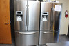 The two new stainless steel refrigerators at the Leahy House kitchen.