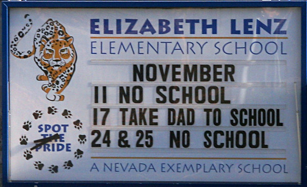 Lenz- Take Dad to School Day