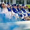 Graduates listen to speakers during the Leominster High School graduation ceremony at Doyle Field on Saturday morning. SENTINEL & ENTERPRISE / Ashley Green