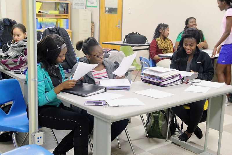 The Leominster High School Black Heritage Club met on Tuesday to plan its third annual gala at the end of February for Black History month. SENTINEL & ENTERPRISE/JOHN LOVE