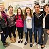 Leominster High Youth Venture group members Jessica Willard, Rafaela Lopes, Daphne Palermo, Morgan Tait and Nico Texiera along with advisor Carol Robison. SENTINEL & ENTERPRISE / Ashley Green
