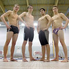 Leominster High School boys swim team members that will be competing in the state championships later this month are senior Devin Farnsworth, senior Kenyon Kowalski, senior Carlos Ordonez and junior Santino Dandini. SENTINEL & ENTERPRISE/JOHN LOVE