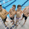 Leominster High School boys swim team members that will be competing in the state championships later this month are senior Carlos Ordonez, senior Devin Farnsworth, junior Santino Dandini and senior Kenyon Kowalski. SENTINEL & ENTERPRISE/JOHN LOVE