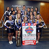 Leominster High School cheerleaders won a national title last weekend. in the front row is Shelby Aikey, Megan Gendron, Nicole Gauvin, Tori DiNardo and Stephanie Sheridan. in the second row is Mattea Gunn, Lindsey Kirouac, Brianna Gauthier, Olga Shumouskaya, and Hannah Kendall. in the third row from the left is Alana Ayala, Gianna Cordio, Cassidy Root. Matheus DaRosa, Natalie Bergeron, Hannah Benincasa and Dominique Perla. missing from photo is Kayla Belair, Brihana Barry, Candice Ludden and Nikki Tufts. SENTINEL & ENTERPRISE/JOHN LOVE