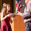 Karissa Mendes is presented the United States History I award during the Leominster High School undergraduate awards ceremony on Tuesday evening. SENTINEL & ENTERPRISE / Ashley Green