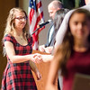 Erica Frazier is presented the Honors U. S. History I award during the Leominster High School undergraduate awards ceremony on Tuesday evening. SENTINEL & ENTERPRISE / Ashley Green
