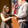 Preya Patal receives the Cultural Sociology award during the Leominster High School undergraduate awards ceremony on Tuesday evening. SENTINEL & ENTERPRISE / Ashley Green