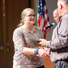 Sara Souders receives the Critical Thinking award during the Leominster High School undergraduate awards ceremony on Tuesday evening. SENTINEL & ENTERPRISE / Ashley Green