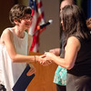 Katie Charpentier is presented the Excellence in Arts Award during the Leominster High School undergraduate awards ceremony on Tuesday evening. SENTINEL & ENTERPRISE / Ashley Green