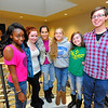 Leominster High School juniors, from left, Plamedi Makelela, 16, Lauren Wilkins, 17, Kyrah Altman, 17, Alex Buckman, 16, Morgan Boas, 16, and Lucas Cardwell, 16, are organizing the 26 Angels Candlelight Vigil to commemorate the 1-year-anniversary of the Sandy Hook tragedy on December 21 at 6 p.m. at Monument Square in Leominster.<br /> SENTINEL & ENTERPRISE / BRETT CRAWFORD
