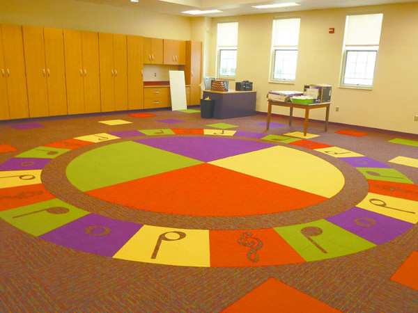 Debbie Wachter<br /> The carpeting in the Lockley music room has a unique design.