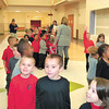 Debbie Wachter/NEWS<br /> After a late start yesterday, kindergartners get a tour of their new school.