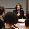 "Acting Lowell school superintendent Jeannine Durkin speaks to visitors at ""Leaders for Increasing Voice in Education"" meeting hosted by the Great Schools Partnership and the Nellie Mae Education Foundation.  (SUN/Julia Malakie)"