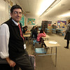 Lowell High Social Studies Department chair Robert DeLossa, in history teacher Jessica Lander's advisory class. State has new requirement for civics education. Lowell High has been doing Generation Citizen. (SUN/Julia Malakie)