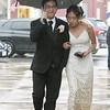 Nicholas Phim and Abigail Phal arrive at Lowell High prom. (SUN/Julia Malakie)