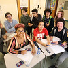 Lowell 'all-star' Knowledge Bowl team that will competer in regional Knowledge Bowl. From left, front: Nina Wolf, Jackie Tran, Isaac Maniscalso and Jackson Little.  Rear: Yutt Kho, Douglas Forsythe, Alden Raisbeck, Key Mahayan (sp?), Enrique Raudales, and Gabby Douglas.  (SUN/Julia Malakie)